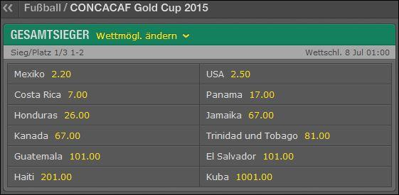 Gold Cup bei Bet365