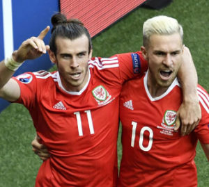 20160625_PD7149 (RM) Artikel Gareth Bale Aaron Ramsey Wales PHILIPPE LOPEZ / AFP / picturedesk.com